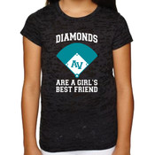Girls / Ladies Burnout Tee